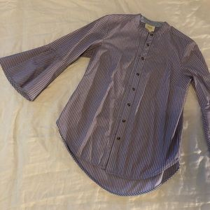 Anthrologie blouse with peplum sleeves